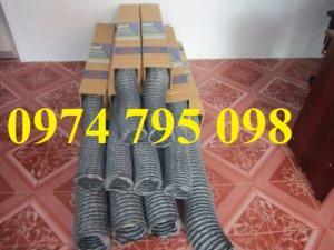 Ống gió bụi mềm vải Fiber xám D40, D50, D60, D75, D100, D115...D200 giá rẻ