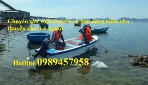 Thuyền gắn động cơ chở 6-8 người giá tốt
