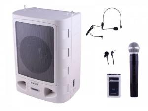 Máy trợ giảng Loa Lớn Sunrise SM-350 hỗ trợ USB, Audio in, cassette