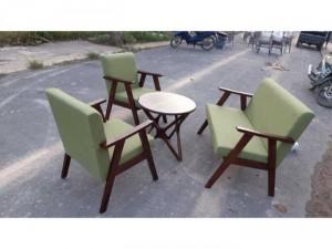 bộ bàn ghế sofa gỗ nệm