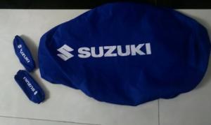 Bao yên bao tay xe suzuki màu xanh bích  được in logo honda màu trắng lên