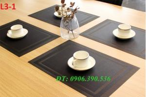 Tấm lót bàn ăn, tấm lót ly, chén, dĩa nhà hàng, khách sạn