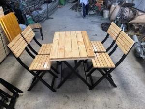 thanh lý bộ bàn ghế xếp gỗ quán nhậu giá rẻ
