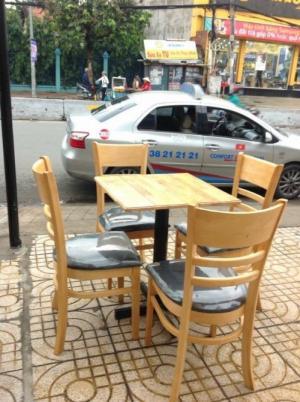 thanh lý bộ bàn ghế gỗ cafe giá rẻ