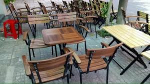 Thanh lý bộ bàn ghế cafe chân sắt sân vườn cao cấp giá rẻ tphcm