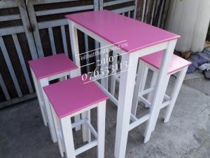 Bàn ghế trà sữa đẹp TS 06