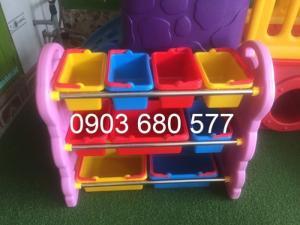 Chuyên bán kệ nhựa để đồ chơi trẻ em cho trường mầm non, lớp mẫu giáo