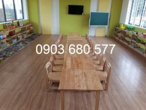 Chuyên bán bàn ghế gỗ trẻ em cho trường mầm non, lớp mẫu giáo