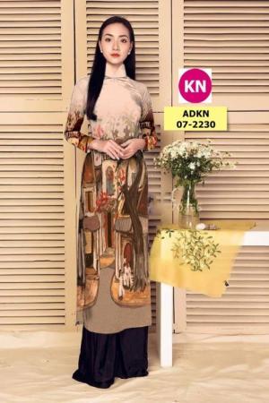 Vải áo dài phong cảnh đẹp 2020 của vải áo dài Kim Ngọc 07-2230
