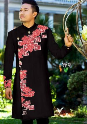 Áo dài cách tân nam, vải áo dài Ngọc Đăng