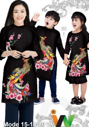 Vải May Áo dài đồng phục gia đình vải áo dài gia đình siêu đẹp