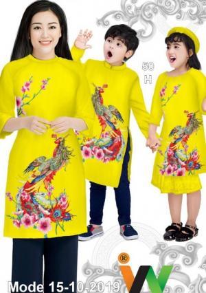 Vải áo dài đẹp, Vải áo dài Thái Tuấn vải áo dài trơn nam màu vàng