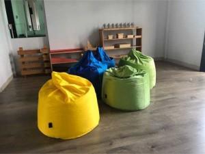 Ghế lười hạt xốp giọt nước chất liệu vải nhung lạnh HQ
