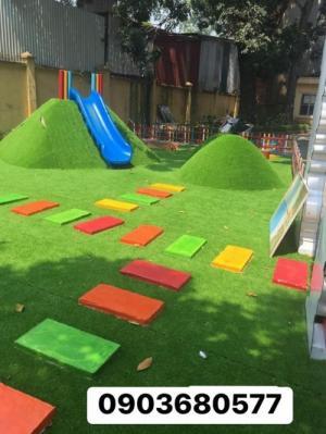 Chuyên cung cấp cỏ nhân tạo cho trường mầm non, sân bóng, sân chơi trẻ em
