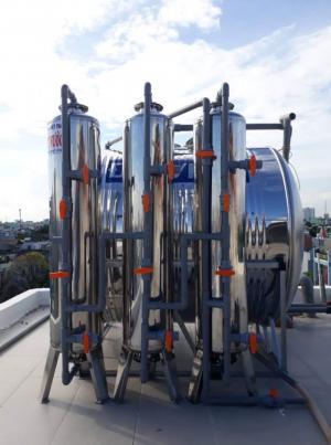 Lọc nước giếng phèn với 3 cột lọc inox 304 giá rẻ