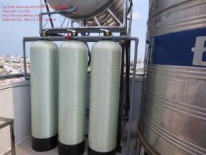 Hệ thống lọc nước giếng phèn bình composite 1054