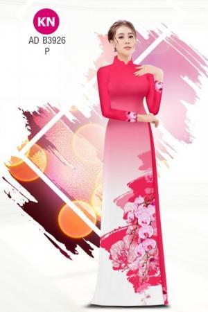Vải áo dài hoa lan hồ điệp dễ thương của vải áo dài Kim Ngọc ADKN B3926