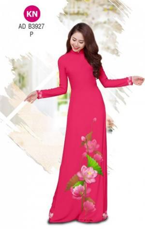 Vải áo dài hoa sen của vải áo dài Kim ngọc ADKN B3927