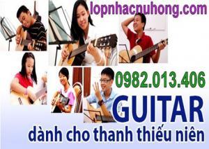 Lớp nhạc Nụ Hồng nhận dạy đàn guitar dễ học hiệu quả cao