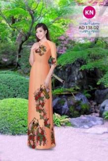 Vải áo dài đẹp in 3D 138