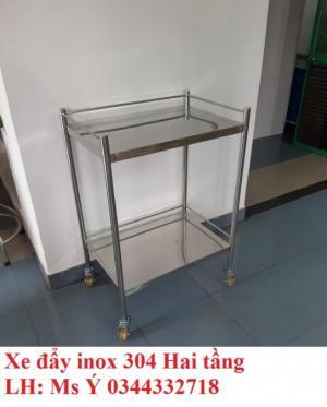 Xe Đẩy Inox 2 Tầng
