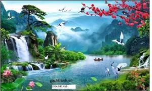 tranh gạch phong cảnh trang trí 3d KJ09