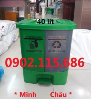 2019-11-14 14:14:19  1  Thùng rác chia ngăn, thùng rác 2 ngăn, thùng rác 40L, thùng phân loại rác, 1,000