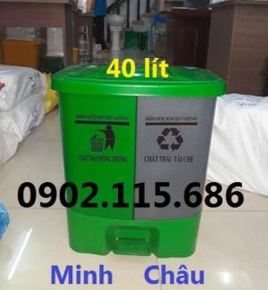 2019-11-14 14:14:19  4  Thùng rác chia ngăn, thùng rác 2 ngăn, thùng rác 40L, thùng phân loại rác, 1,000