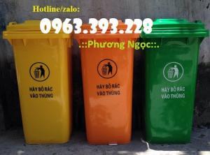 Thùng rác nhựa HDPE 120 Lít, thùng rác công cộng, thùng rác công nghiệp