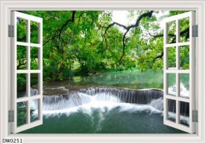 tranh gạch 3d cư số thác nước đẹp l09
