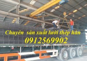 Lưới thép hàn D7a(200*200), D8a(200*200), D10a(200*200), lưới đổ sàn bê tông