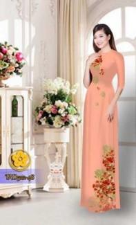 Vải áo dài hoa phượng TAD522
