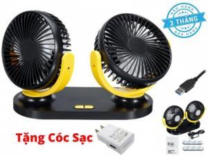 Quạt Đôi Mini Fan 360 Độ Cực Mát Tặng Kèm Cóc Sạc-MSN181357