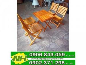 bàn ghế xếp gỗ thấp giá rẽ
