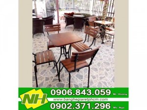 ghế gỗ nội thất nguyễn hoàng dùng cho quán cafe