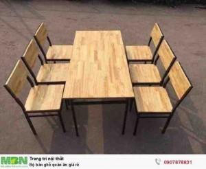 Bộ bàn ghế quán ăn giá rẻ