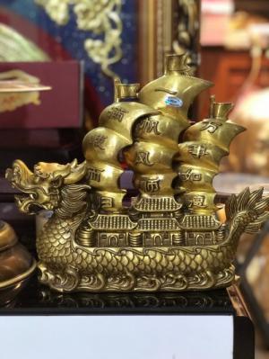 Tượng thuyền buồn xuôi gió bằng đồng nguyên chất