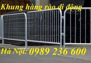 Khung Hàng rào di động chắc chắn bền đẹp giá rẻ tại Hà Nội.