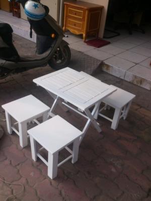 ghế gổ quán cóc son màu sa 3 xuất tại xưởng HOANG MINH 697799