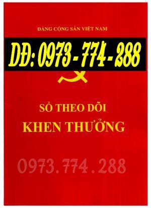 Sổ theo dõi khen thưởng giá rẻ, chất lượng, uy tín, tại Hà Nội