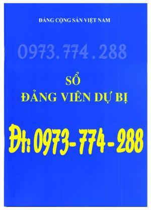 Sổ Đảng viên dự bị, giá rẻ, chất lượng, uy tín tại Hà Nội