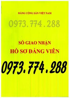 Sổ giao nhận hồ sơ đảng viên giá cả, uy tín , chất lượng tại Hà Nội