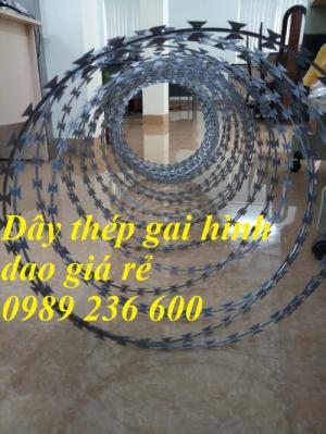 Dây thép gai kẹp dao mạ kẽm nhúng nóng bền đẹp hàng có sẵn tại Hà Nội