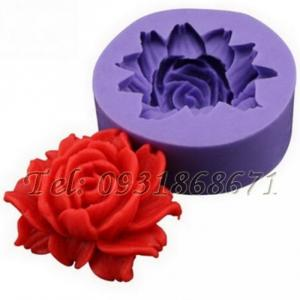 Khuôn rau câu silicon hoa hồng xéo - Mã số 32