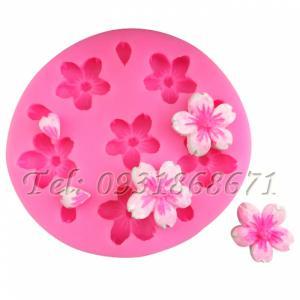 Khuôn rau câu silicon hoa sakura - Mã số 263