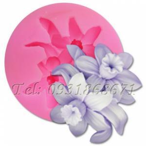 Khuôn rau câu silicon hoa thủy tiên chùm - Mã số 57