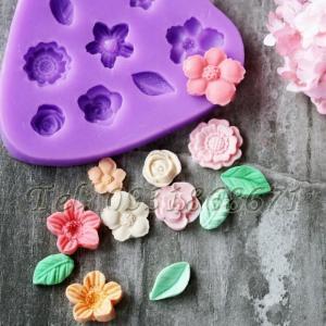 Khuôn rau câu silicon các loại hoa - Mã số 190