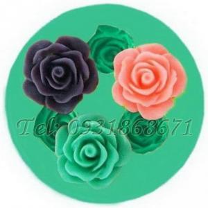Khuôn rau câu silicon 3 hoa hồng - Mã số 38