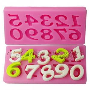 Khuôn rau câu silicon 10 số - Mã số 74