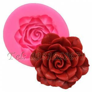 Khuôn rau câu silicon hoa hồng cánh nhọn - Mã số 160